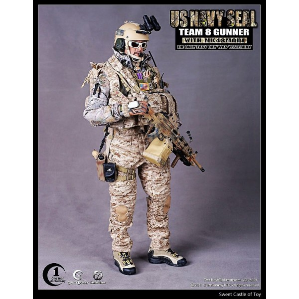 1/6 Scale US Navy SEAL Team 8 Gunner AOR1 Pistol Ammo