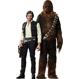 Star Wars - Episode IV Han Solo and Chewbacca 1/6th - Hot Toys