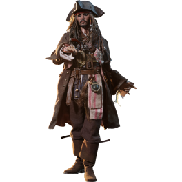 Hot Toys Jack Sparrow Piratas do Caribe: Hot Toys Jack Sparrow Piratas do Caribe:  Dead Men Tell No Tales